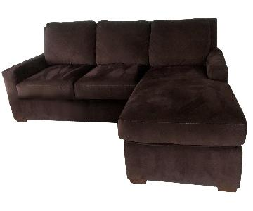 American Leather Queen Sleeper Sectional Sofa w/ Storage