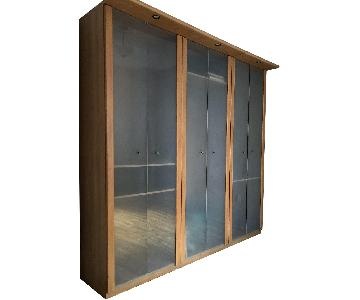 3-Piece Wood Wardrobe w/ Lighting
