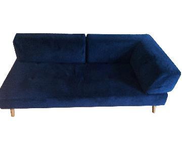 West Elm Retro Tillary Performance Velvet Sofa
