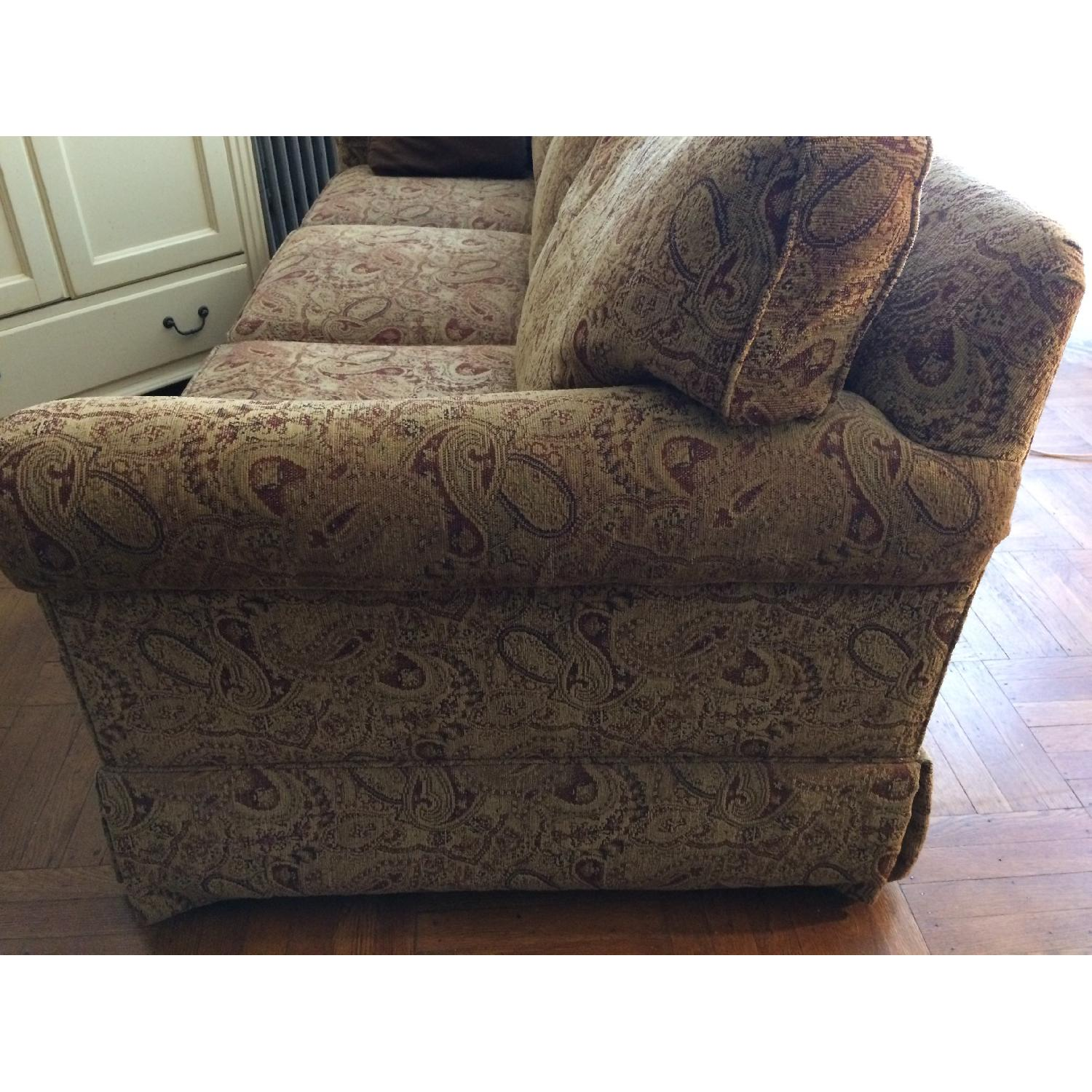 Ethan Allen Slipcovered Rolled Arm Sofa-1