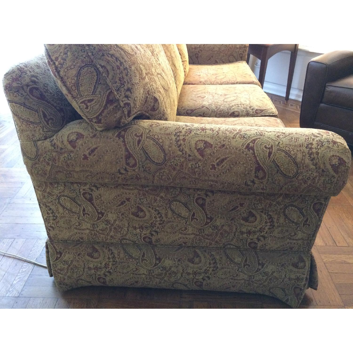 Ethan Allen Slipcovered Rolled Arm Sofa-2