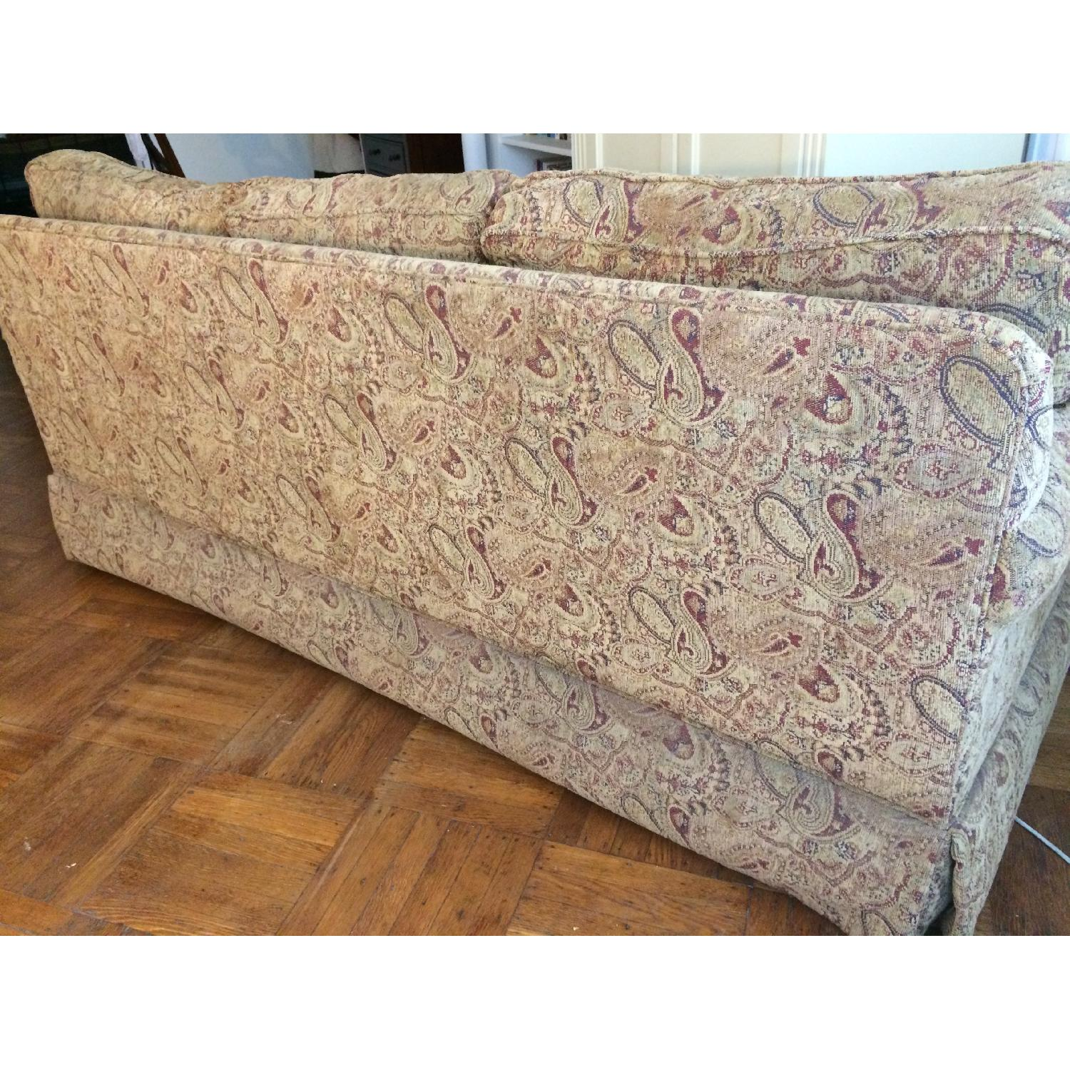 Ethan Allen Slipcovered Rolled Arm Sofa-3