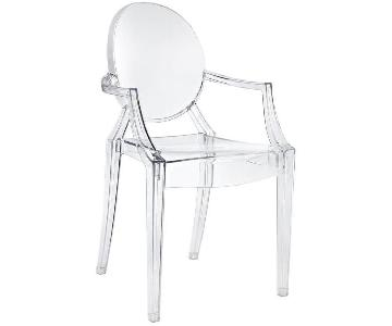 Modway Casper Dining Arm Chair in Clear
