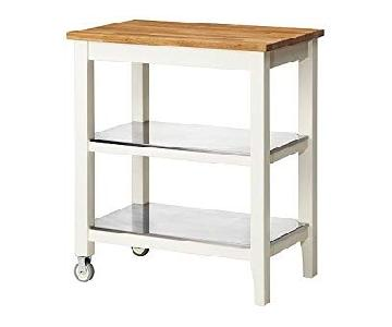 Ikea Stenstorp Kitchen Cart in White Oak