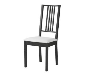 Ikea Borje Wood & Fabric Dining Chairs