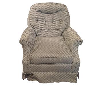 Mint Green Patterned Swivel Chair