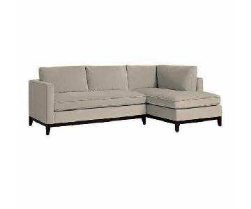 West Elm Blake Sectional Sofa w/ Left Arm Chaise