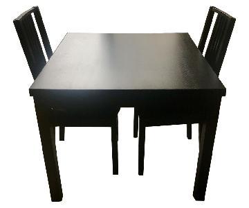 Ikea Bjursta Extendable Table w/ 2 Borje Chairs