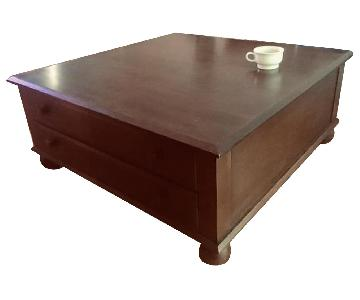 Ethan Allen Square Coffee Table