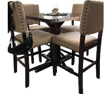 Furniture of America Banea Counter Height Table w/ 4 Stools