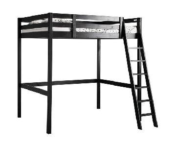 Ikea Stora Loft Bed in Black Wood