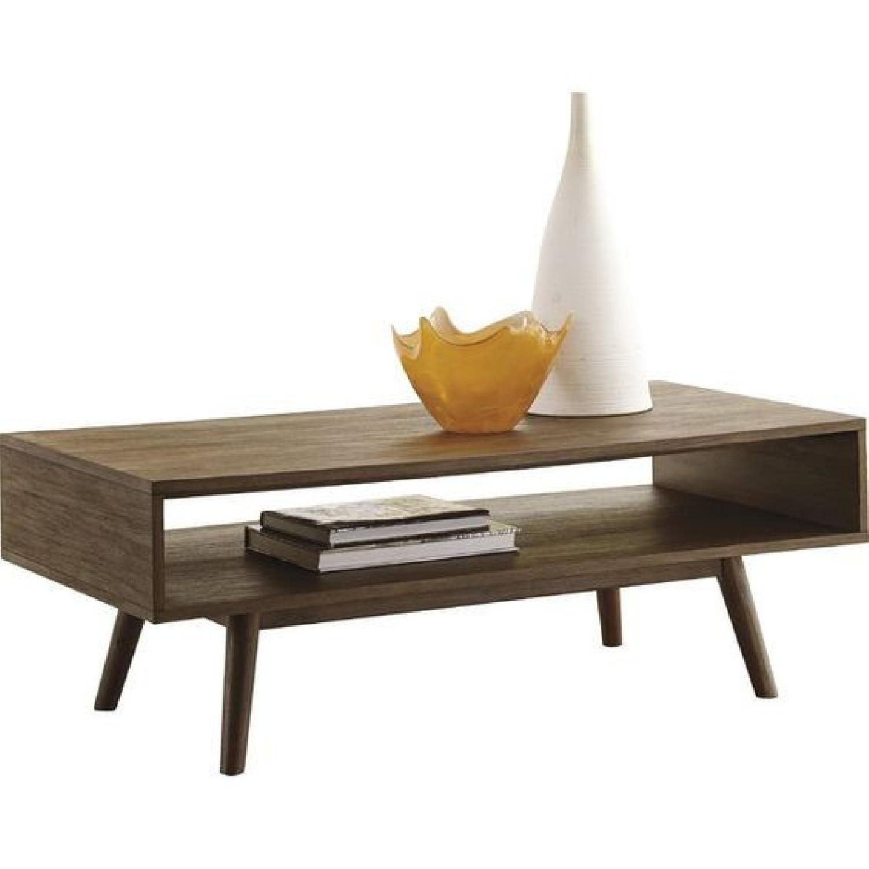 Langley Street Modern Dark Brown Wooden Coffee Table