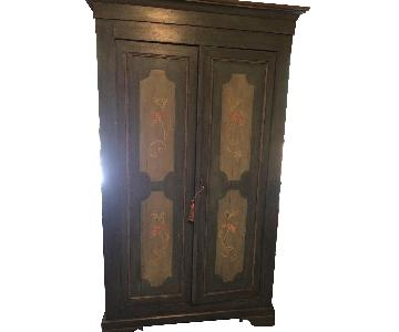 Antique c.1830 Hand Painted Armoire