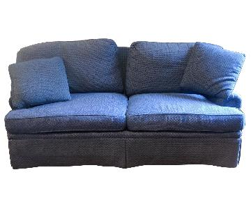 Calico Corners Blue Down-Filled Sofa