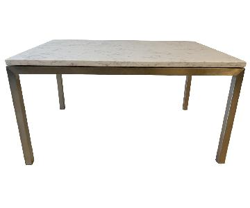 Room & Board Portica Marbled White Quartz Top Cocktail Table