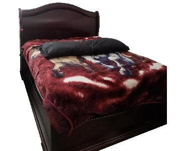Louis Philippe Style Queen Size Cherry Finish Bed