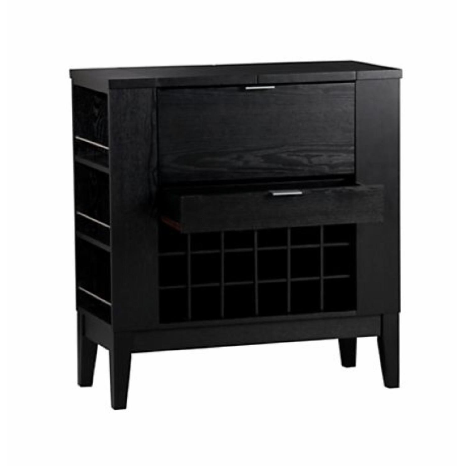 Crate & Barrel Parker Bar Cabinet in Ebony