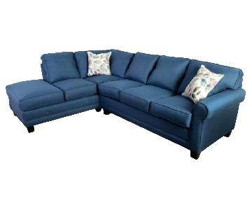 Galena Blue Sectional Sofa w/ Chaise