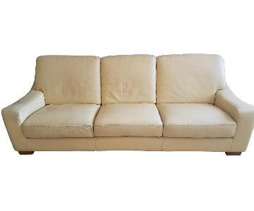 Roche Bobois Contemporary Leather Sofa + Chair