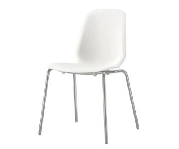 Ikea White Modern Dining Chairs