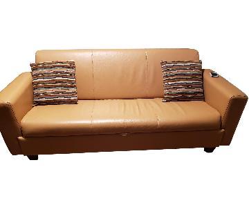 4D Concepts Vegan Leather Sleeper Sofa
