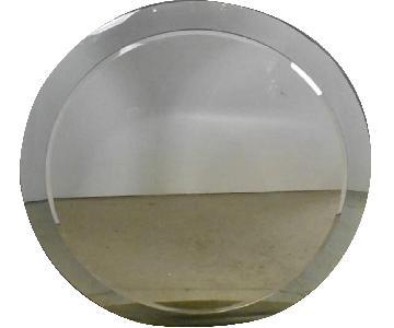 Large Mid-Century Circular Wall Mirror