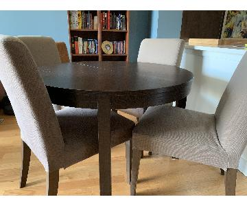 Ikea Bjursta Round Extendable Table w/ 4 Henriksdal Chairs