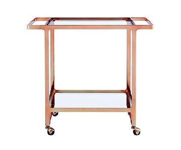 CB2 Copper Bar Cart