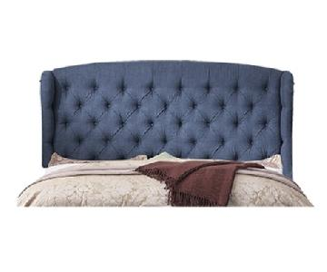Mulhouse Feliciti Classic Navy Upholstered Queen Headboard
