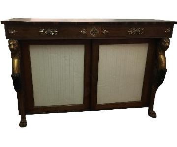 Vintage French Ornate Credenza