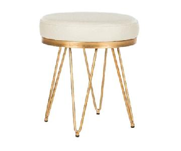 One Kings Lane Oslo Round Stool in Cream