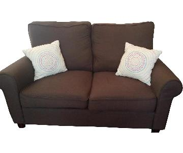 Beachcrest Home Buxton Dark Brown Loveseat