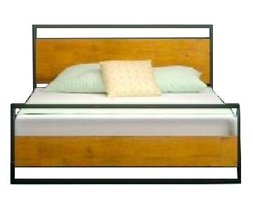 Zinus Suzanne Low Profile Platform Bed Frame w/ Footboard