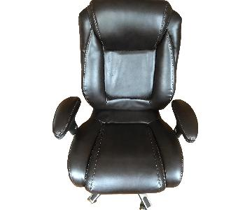 Lazy Susans Brown Leather Office Chair