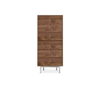 Room & Board Hudson Tall Walnut Dresser
