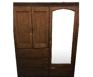 Thomasville Dark Brown Wardrobe w/ Mirror