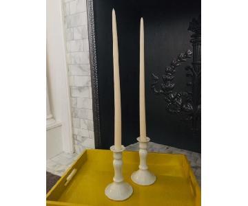 Limoges Porcelain Candle Sticks
