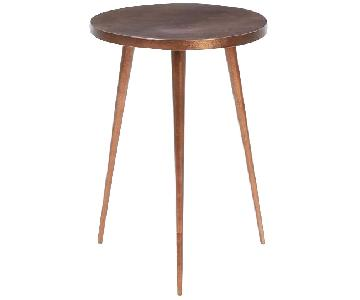 West Elm Cast Tripod Side Table in Copper