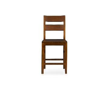 Crate & Barrel Basque Honey Bar Stools