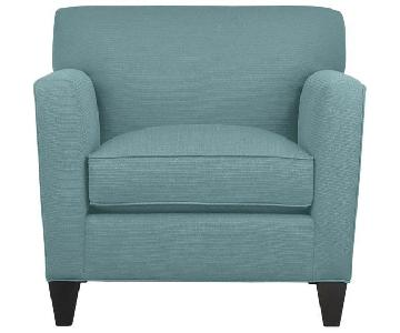 Crate & Barrel Aquamarine Accent Chair