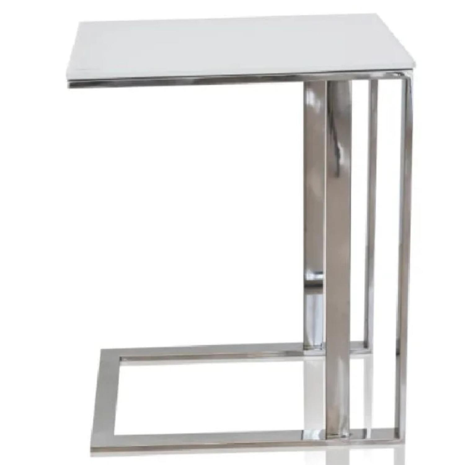 Modani Khloe White Side Tables