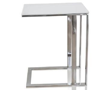 Modani Khloe White Side Tables