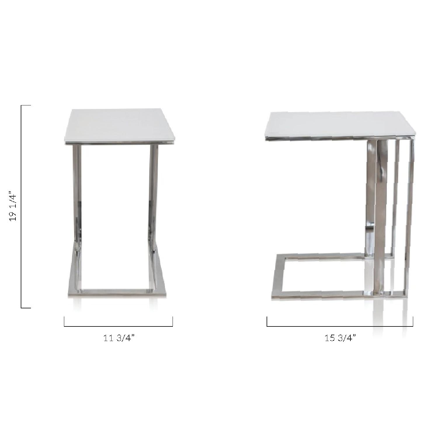 Modani Khloe White Side Tables-1
