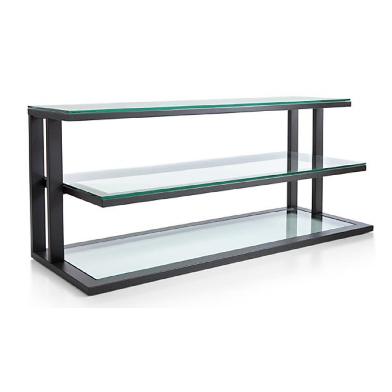 Crate & Barrel Pilsen Media Console w/ Glass Shelves