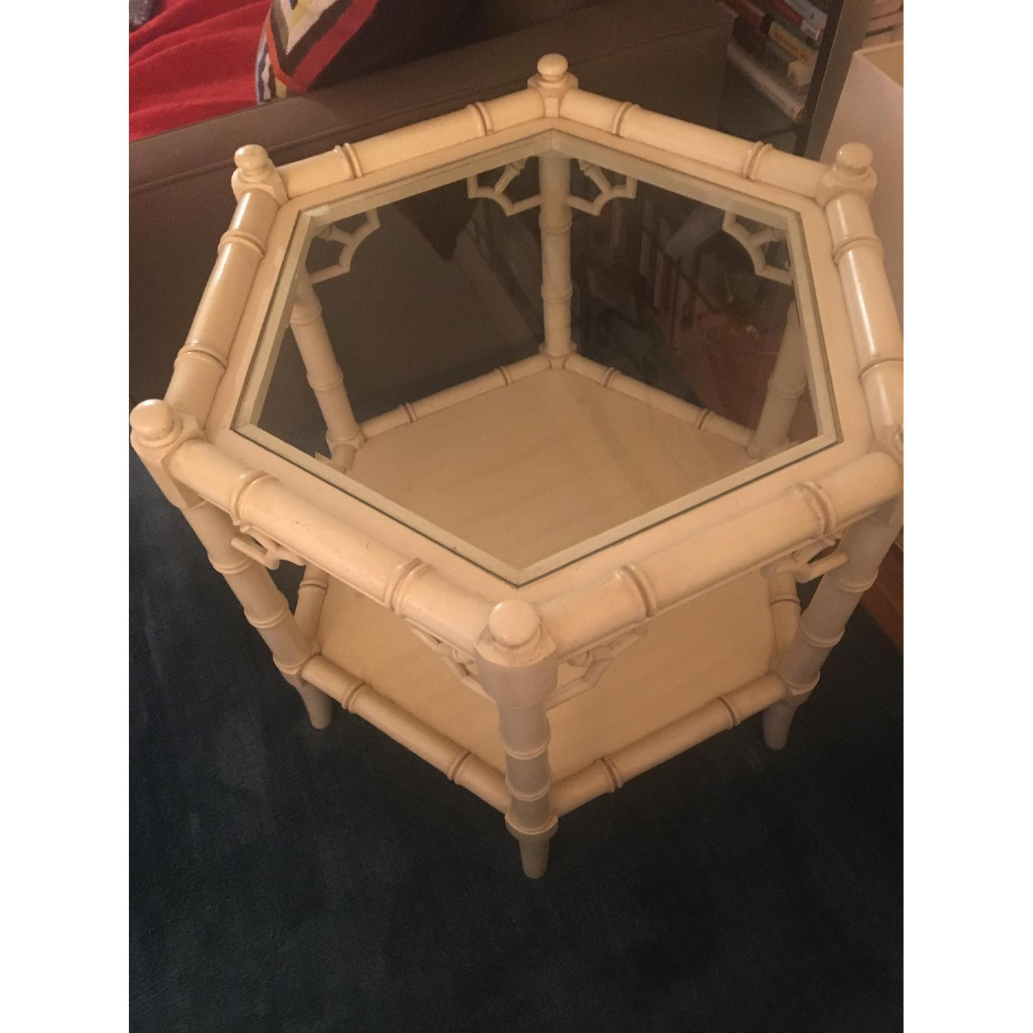 Thomasville Allegro Faux Bamboo End Tables-3