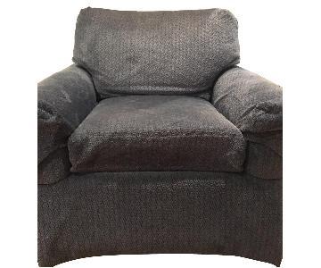 Blue Fabric Sofa Chair