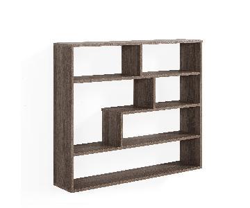 Danya B. Large Rectangular Shelf Unit in Weathered Oak