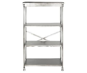 Safavieh Dark Silver Iron & Wood Bookcase