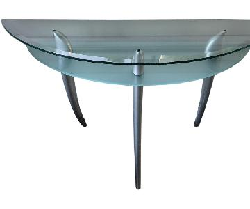Roche Bobois Glass Console Table in Arc Design