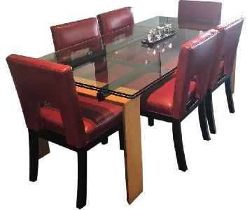 Roche Bobois Glass Extension Dining Table